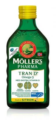 Tran D+ sitronsmak 250ml