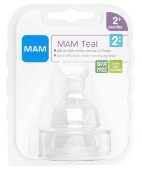 Mam Teat 2 flaskesmokk fra 2 måneder 2stk