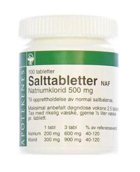 Salttabletter NAF 100 stk