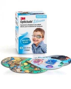 Opticlude Silicone øyelappergutt 50stk