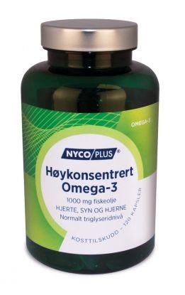 Nycoplus Høykonsentrert omega-3 1000mg kapsler 120stk