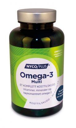Nycoplus Omega-3 multi kapsler 90stk Komplett kosttilskudd med vitaminer, mineraler og omega-3