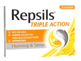 Triple Action Honning & Sitron 24stk