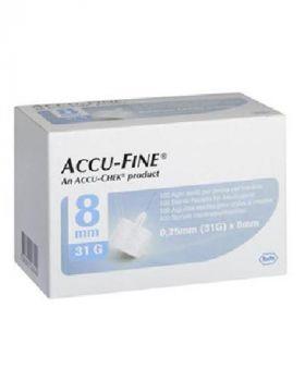 Accu-Fine Kanyle 31G 8mm 100stk