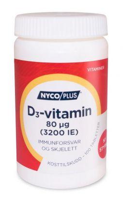 Nycoplus D3-vitamin 80mcg tabletter 100stk