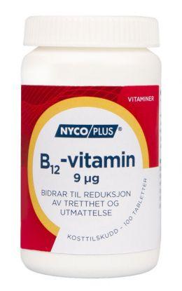 Nycoplus B12-vitamin 9mcg tabletter 100stk