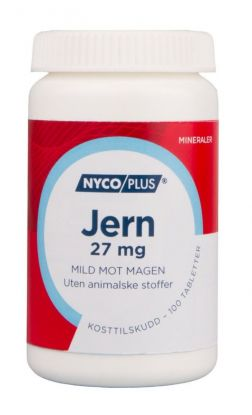 Nycoplus Jern 27mg tabletter 100stk