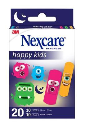 Nexcare Kids Monster 20stk