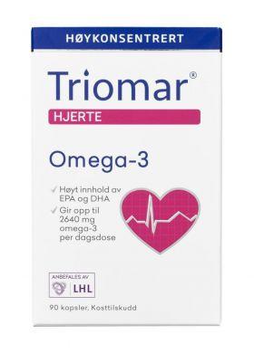 Hjerte omega-3 kapsler 90stk
