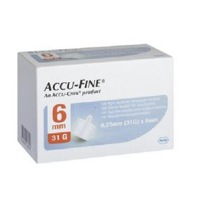 Accu-Fine Kanyle 31G 6mm 100stk