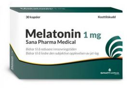 Melatonin 1 mg kapsler 30 stk
