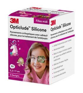 Opticlude Silicone øyelapper Jente 50stk