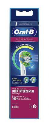 Floss action tannbørstehode 3stk