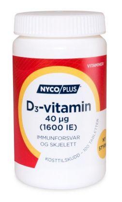 Nycoplus D3-vitamin 40mcg tabletter 100stk