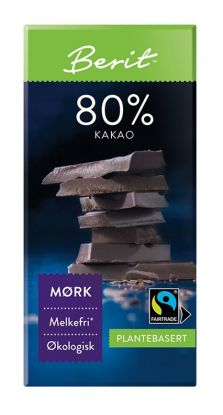 Melkefri Sjokolade 80% Kakao