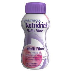 Nutridrink Multi Fibre Jordbær 200ml