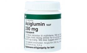 Aciglumin NAF 250 mg tabletter