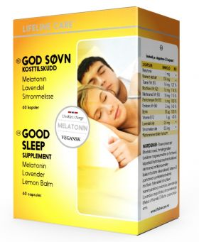 Lifeline Care God Søvn Melatonin 60 kap