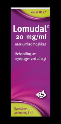 Lomudal Øyedråper 20mg/ml
