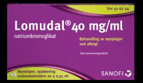 Lomudal Øyedråper 40mg/ml