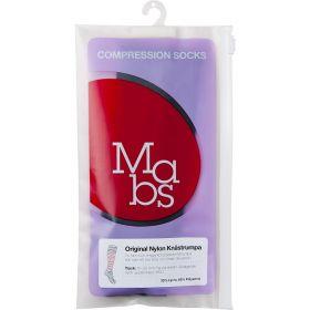 Nylon kompresjon knestrømpe sand M
