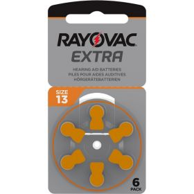 Extra Advanced Høreapparat Batteri, 13 6stk