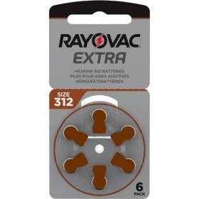 Extra Advanced Høreapparat Batteri 312, 6stk